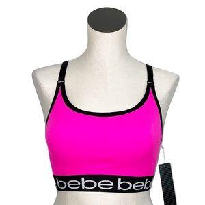 NWT Bebe Sport Contrast Stripe Seamless Sport Bra